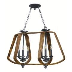 Barn Wood/iron Ore Lighting