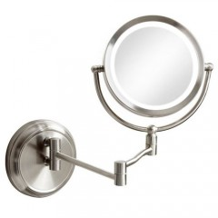 Dainolite LEDMIR-1W-SC Polished Chrome Magnifier Mirrors