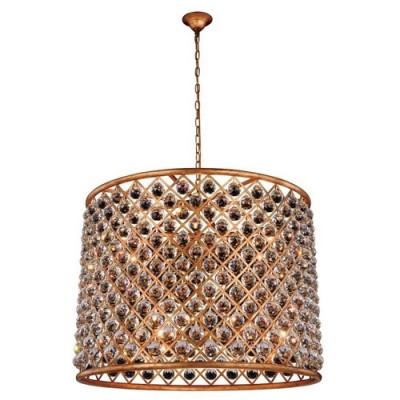 Elegant Lighting 1206D35GI-RC Golden Iron Madison