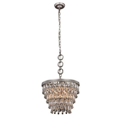 Elegant Lighting 1219D16AS-RC Antique Silver Nordic