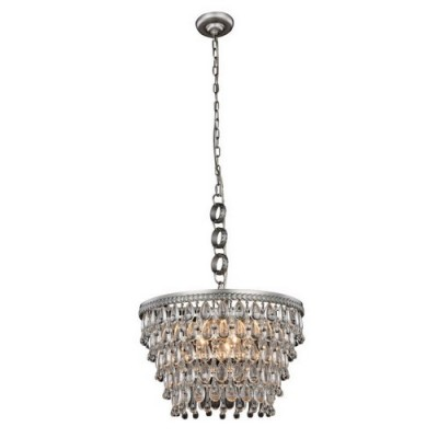 Elegant Lighting 1219D19AS-RC Antique Silver Nordic