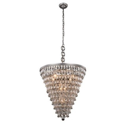 Elegant Lighting 1219D24AS-RC Antique Silver Nordic