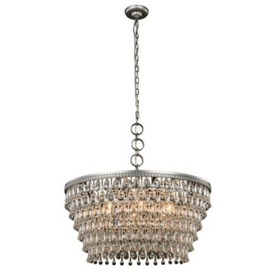 Elegant Lighting 1219D28AS-RC Antique Silver Nordic
