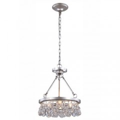 Elegant Lighting 1509D15SL Silver Leaf Bettina