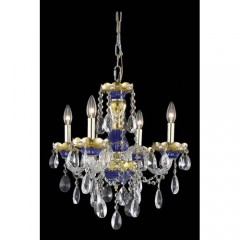 Elegant Lighting 7810D19BE-SS Blue Alexandria