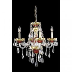 Elegant Lighting 7810D19G-SS Gold/Red Alexandria