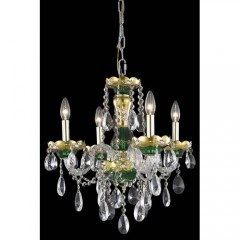 Elegant Lighting 7810D19GN-SS Green Alexandria