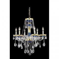 Elegant Lighting 7810D24BE-SS Blue Alexandria