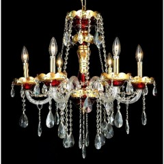 Elegant Lighting 7810D24G-RC Gold Alexandria