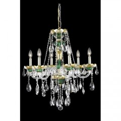 Elegant Lighting 7810D24GN-SS Green Alexandria