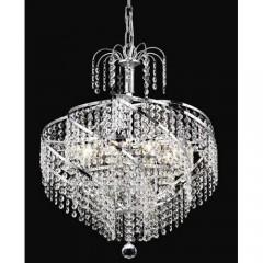 Elegant Lighting 8052D18C-SA Chrome Spiral