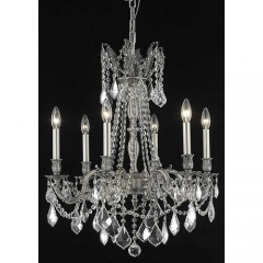 Elegant Lighting 9206D23PW-SS Pewter Rosalia