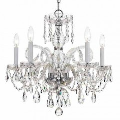 Crystorama 1005-CH-CL-SAQ Polished Chrome Traditional Crystal