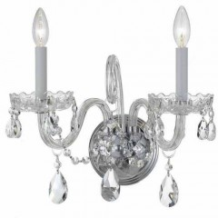 Crystorama 1032-CH-CL-MWP Polished Chrome Traditional Crystal