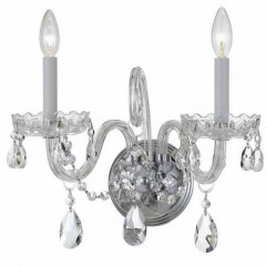 Crystorama 1032-CH-CL-S Polished Chrome Traditional Crystal