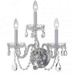 Crystorama 1033-CH-CL-MWP Polished Chrome Traditional Crystal