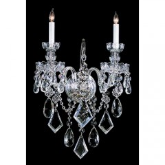Crystorama 1042-CH-CL-MWP Polished Chrome Traditional Crystal