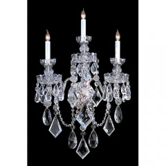 Crystorama 1043-CH-CL-MWP Polished Chrome Traditional Crystal