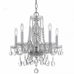 Crystorama 1061-CH-CL-S Polished Chrome Traditional Crystal
