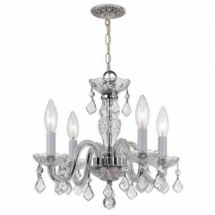 Crystorama 1064-CH-CL-SAQ Polished Chrome Traditional Crystal