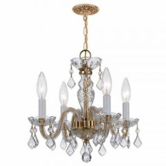 Crystorama 1064-PB-CL-SAQ Polished Brass Traditional Crystal
