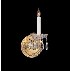 Crystorama 1121-PB-CL-SAQ Polished Brass Traditional Crystal