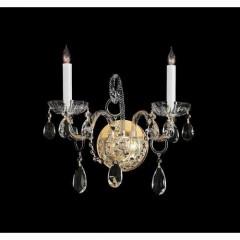 Crystorama 1122-PB-CL-MWP Polished Brass Traditional Crystal