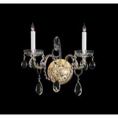 Crystorama 1122-PB-CL-SAQ Polished Brass Traditional Crystal