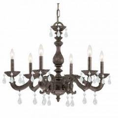 Crystorama 5036-VB-CL-SAQ Venetian Bronze Paris Market