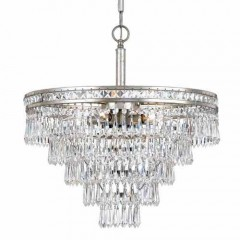 Crystorama 5264-OS-CL-MWP Olde Silver Mercer