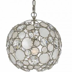 Crystorama 527-SA Antique Silver Palla