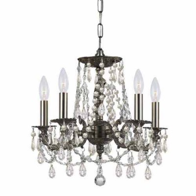Crystorama 5545-PW-CL-MWP Pewter Gramercy