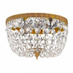Crystorama 710-OB-CL-I Olde Brass Ceiling Mount