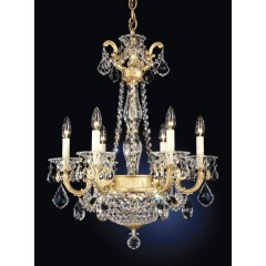Schonbek 5076-80S Roman Silver La Scala Empire