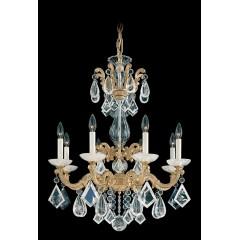 Schonbek 5407-48R Antique Silver La Scala Rock Crystal