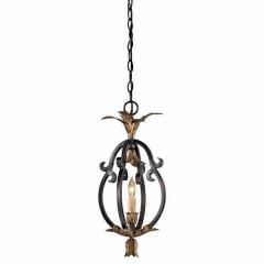 Metropolitan Lighting N6103-20 FRENCH BLACK W/ GOLD LEAF HIGH MONTPARNASSE