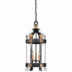 Metropolitan Lighting N6105-20 FRENCH BLACK W/ GOLD LEAF HIGH MONTPARNASSE