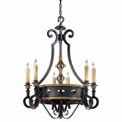 Metropolitan Lighting N6106-20 FRENCH BLACK W/ GOLD LEAF HIGH MONTPARNASSE