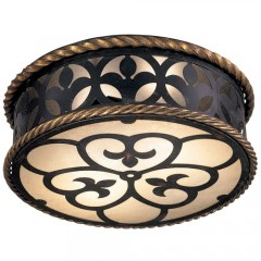Metropolitan Lighting N6109-20 FRENCH BLACK W/ GOLD LEAF HIGH MONTPARNASSE