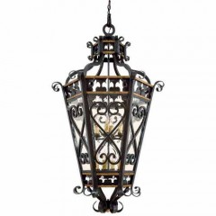 Metropolitan Lighting N6116-20 FRENCH BLACK W/ GOLD LEAF HIGH MONTPARNASSE