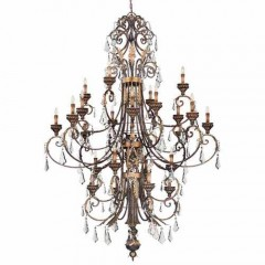 Metropolitan Lighting N6228-228 Windsor Rust w/ Bronze Accents Metropolitan