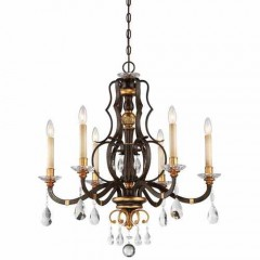 Metropolitan Lighting N6456-652 RAVEN BRONZE W/SUNBURST GOLD H CHATEAU NOBLES