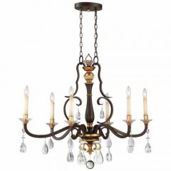 Metropolitan Lighting N6457-652 RAVEN BRONZE W/SUNBURST GOLD H CHATEAU NOBLES