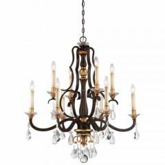 Metropolitan Lighting N6459-652 RAVEN BRONZE W/SUNBURST GOLD H CHATEAU NOBLES