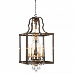 Metropolitan Lighting N6465-652 RAVEN BRONZE W/SUNBURST GOLD H CHATEAU NOBLES