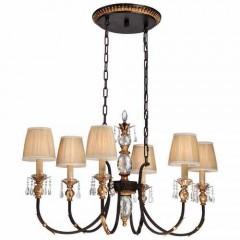 Metropolitan Lighting N6640-258B French Bronze w/ Gold Highligh Bella Cristallo