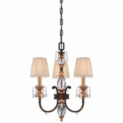 Metropolitan Lighting N6643-258B French Bronze w/ Gold Highligh Bella Cristallo