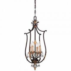 Metropolitan Lighting N6644-258B French Bronze w/ Gold Highligh Bella Cristallo