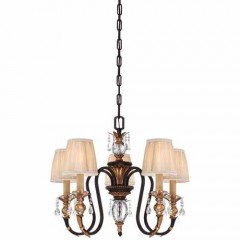 Metropolitan Lighting N6645-258B French Bronze w/ Gold Highligh Bella Cristallo