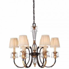Metropolitan Lighting N6646-258B French Bronze w/ Gold Highligh Bella Cristallo